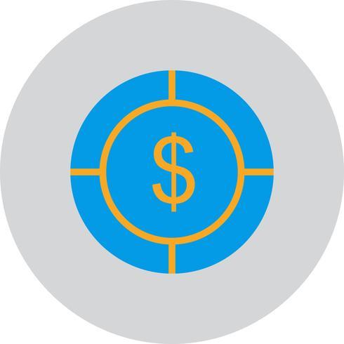 Vector Dollar Target Icon