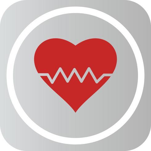 icono de latido del corazón vector