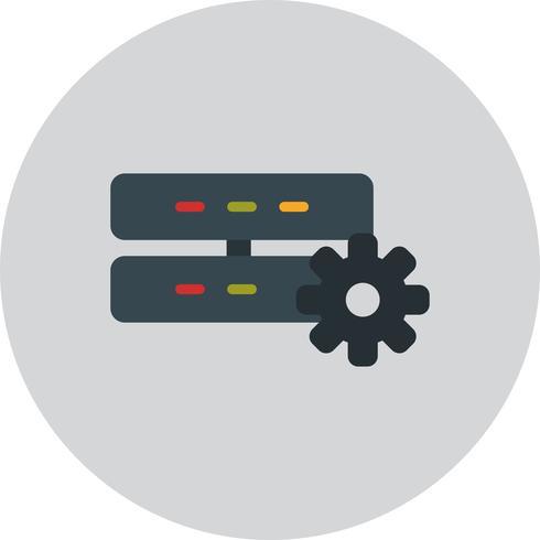 Icona di impostazione del server vettoriale
