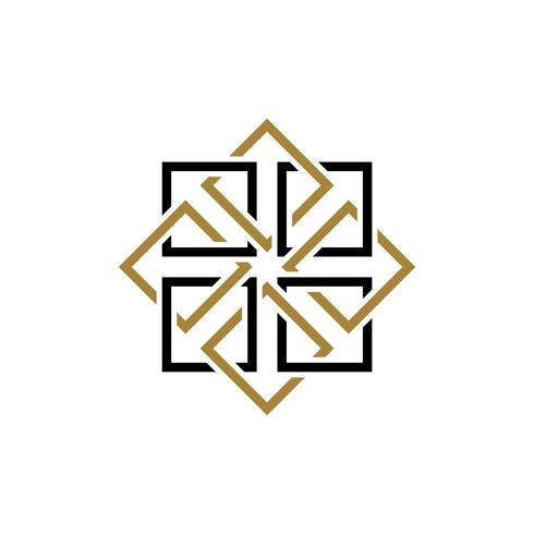 Diamond Line Ornamental Pattern Illustration Design. Vector EPS 10.