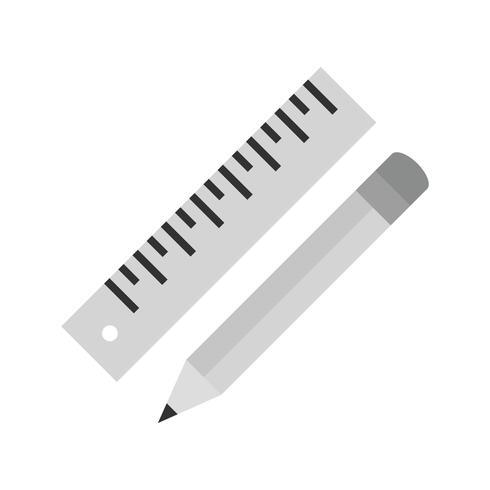 Icona della matita e del righello di vettore