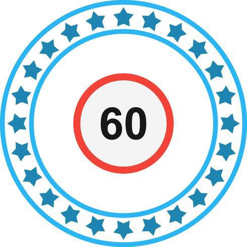 Icono de Vector Speed Limit 60