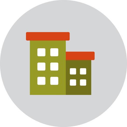 Icona di edificio per uffici di vettore