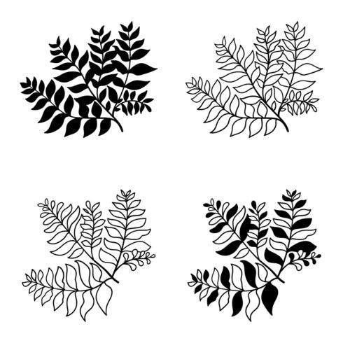 Botanische hand getrokken elementen