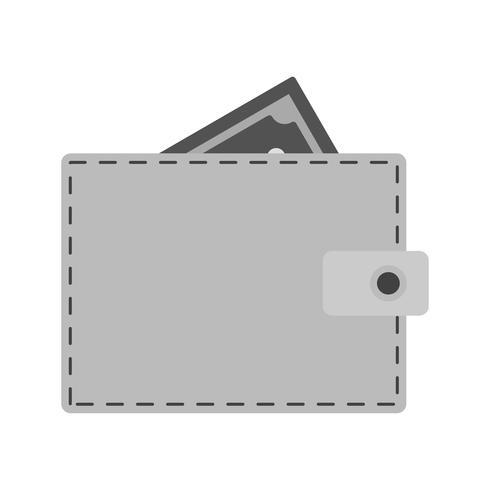 Vector icono de billetera
