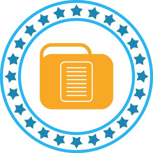 Vector Document Folder Icon