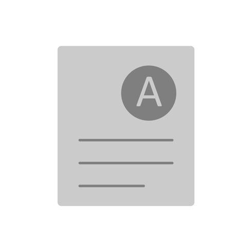 Vector A Grade Icon