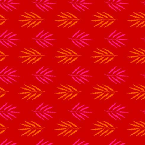 Botánico dibujado a mano patrón