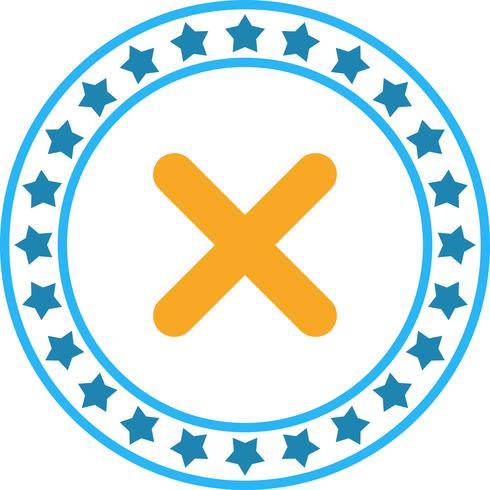 Vektor kors ikon