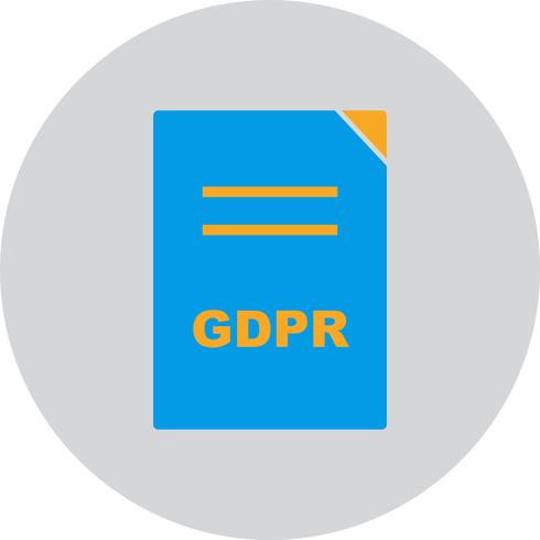 Vector GDPR Document Icon