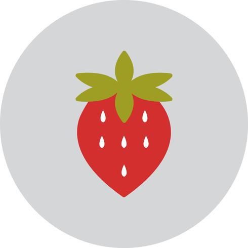 Vector icono de fresa
