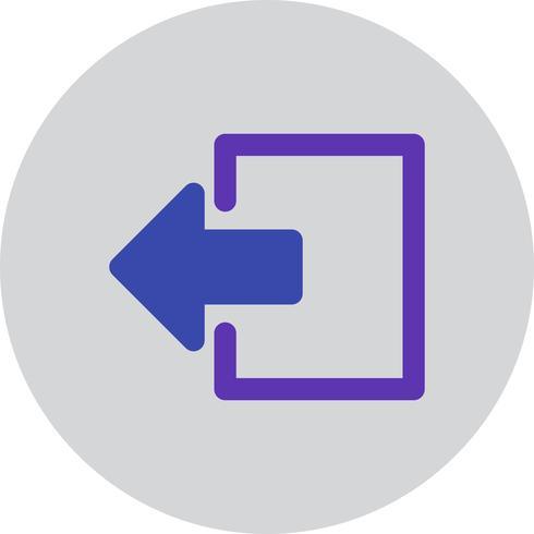 vektor logout ikon