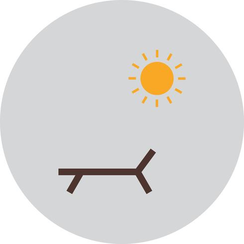 Vector Sunny Beach pictogram