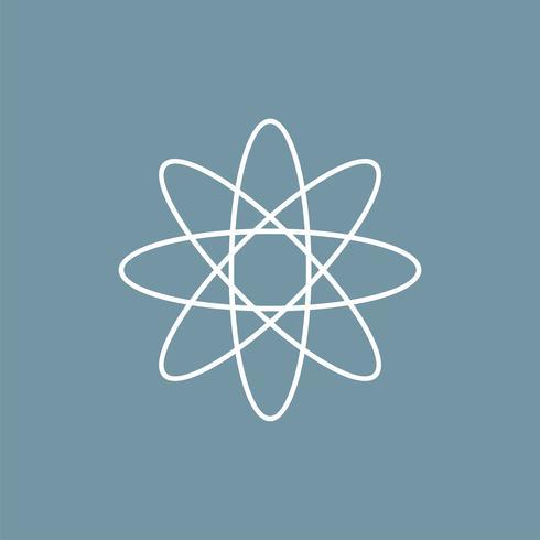 Icono químico del neutrón Diseño de la ilustración. Vector EPS 10.