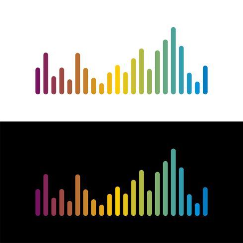 Colorful sound wave logo template Illustration Design. Vector EPS 10.