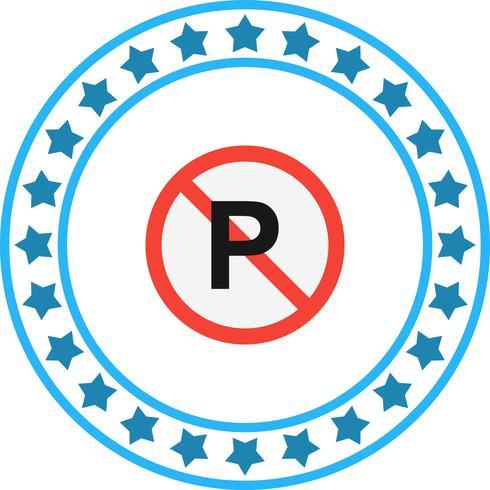 Icona di vettore senza parcheggio