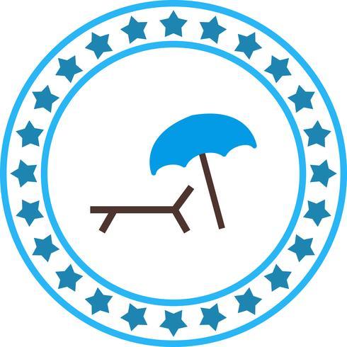 Vektor Beach Paraply och stol Icon