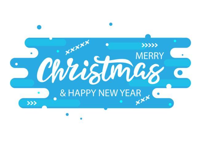 Julmodern blå banner