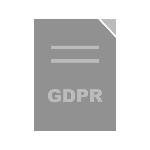 Vector GDPR-documentpictogram