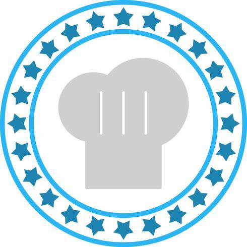 icono de gorro de cocinero de vector