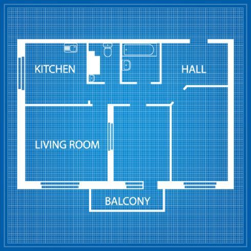 Indeling van het appartement vector