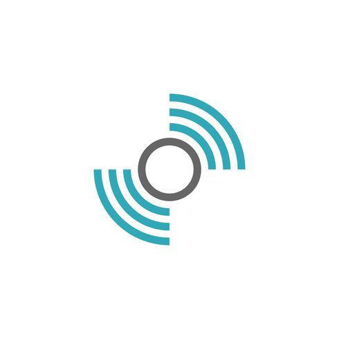 Wifi-signaal logo sjabloonontwerp illustratie. Vector EPS 10.
