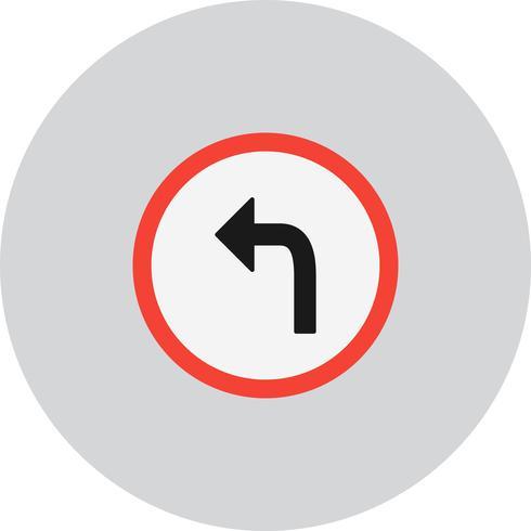 Vecteur tourner à gauche icône