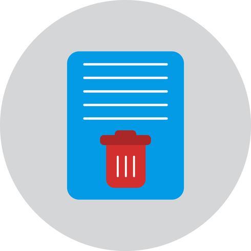 Ícone de lixo de documento de vetor