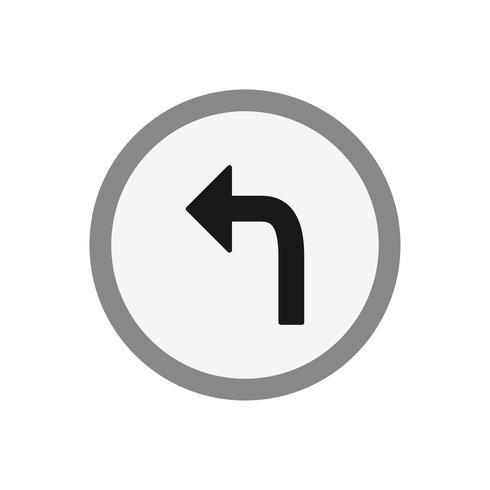 Vector Gire a la izquierda icono