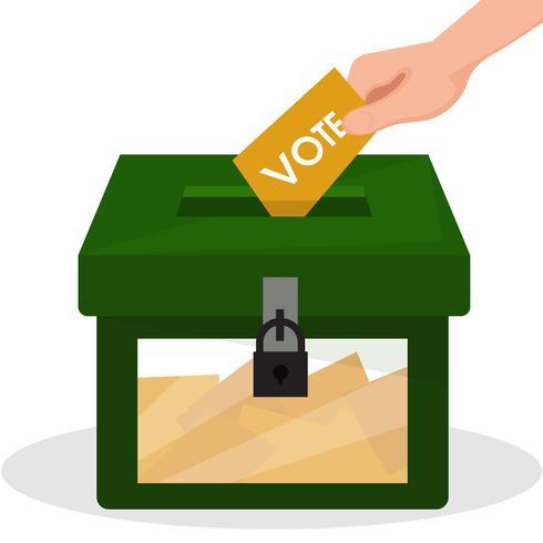 Röstning i Thailand och politiska partikampanjer
