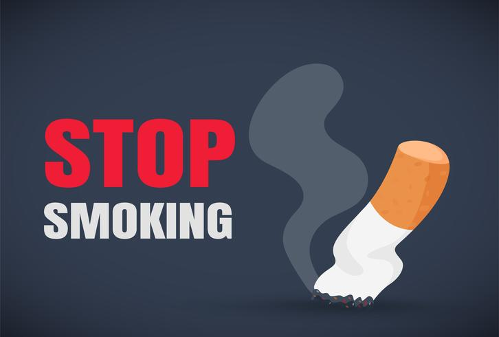 Giornata mondiale senza tabacco. Smetti di fumare La malattia dal bun di fumo.