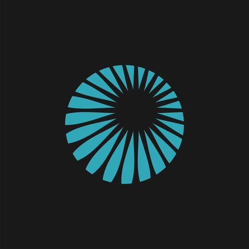 Blauer Sonnenbrand-Kreis Logo Template Illustration Design. Vektor EPS 10.