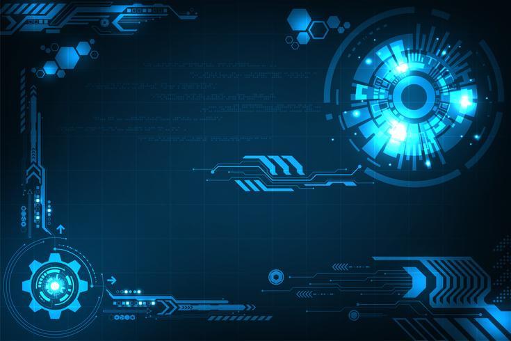 Vektor bakgrund i begreppet teknik.
