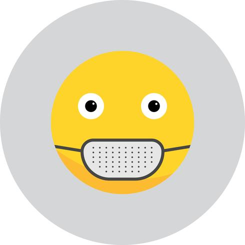 Icona medica di vettore maschera Emoji