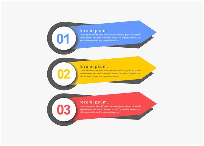 Banners creativos de presentación de vectores limpios
