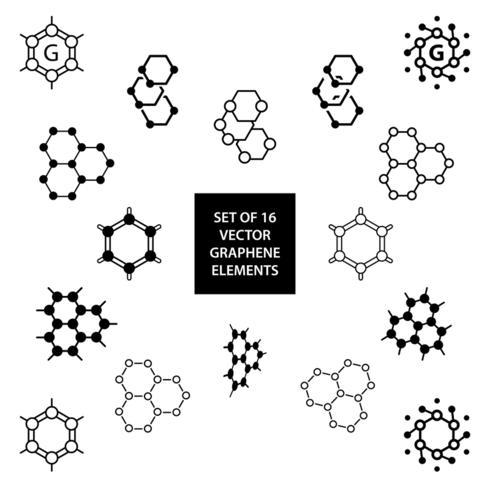 Conjunto de elementos de diseño vectorial de grafeno