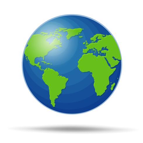 Earth Globe isolated on white Background. Illustration Vector EPS10.