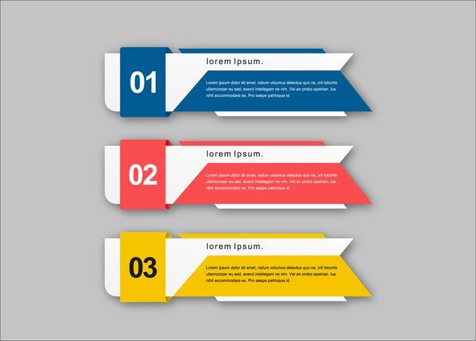 Färgglada koncept kreativa vektor presentation banners