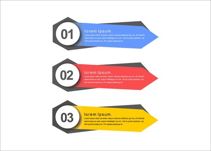 Coloridas presentaciones mínimas vector banners