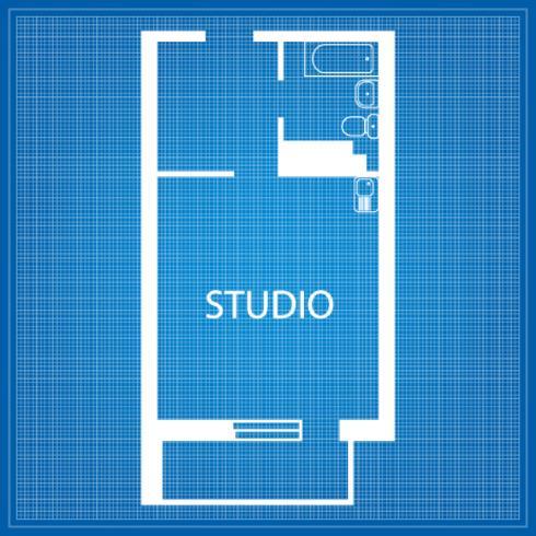 Layout van de Studio vector