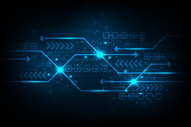 The exchange of information in digital. vector