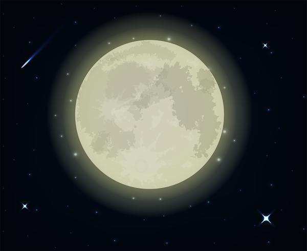 belle pleine lune vecteur