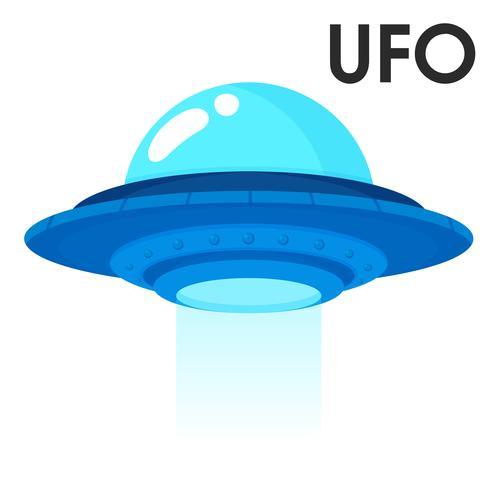 Leuke cartoon ruimtevaartuigen uit de ruimte of buitenaardse ufo