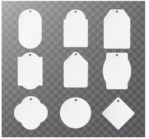 Mockup Product papieren etiket voor logo product Afzonderlijke onderdelen vector