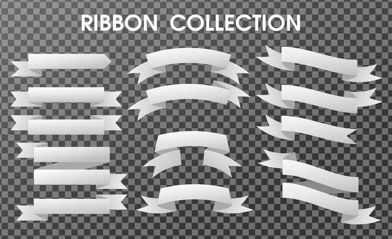 La colección de cintas de banner está vacía. Componentes separados sobre un fondo transparente.