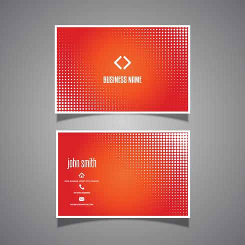 Visitkort med halvton prickdesign