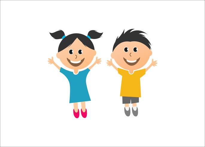 Lyckliga barn kreativ vektorkonst