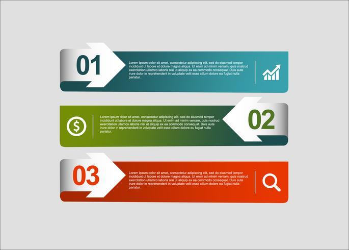 Bannières de vecteur créatif moderne infographie