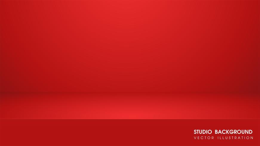 Tavolo vettoriale con tappeto rosso in studio Per fare pubblicità media per la vendita di prodotti.