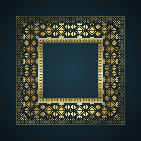Fondo de borde de estilo azteca